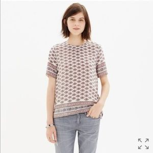 Madewell Silk Refined Tee in Diamond Floral XS